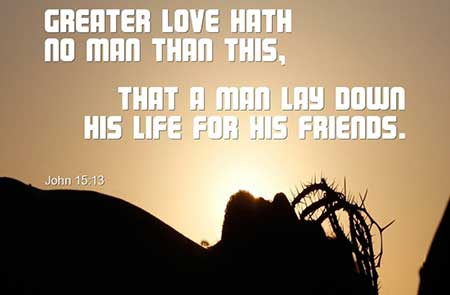 Jesus love displayed on the cross